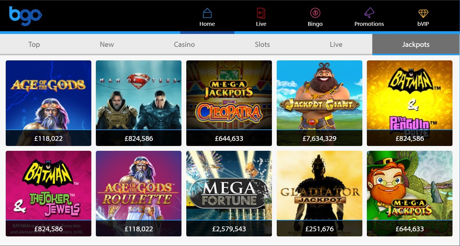 bgo casino games