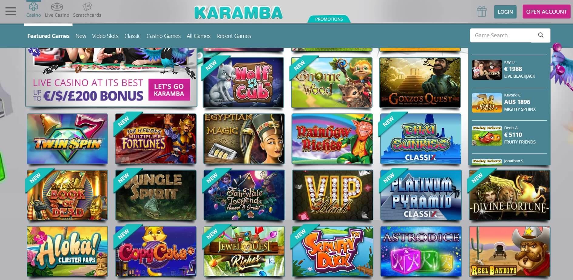 Latest karamba casino no deposit bonuses 🥇 april